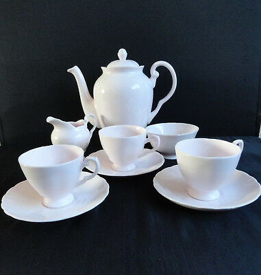Vintage Tuscan 9 Piece Coffee Set With Coffee Pot Made England - Charity Auction