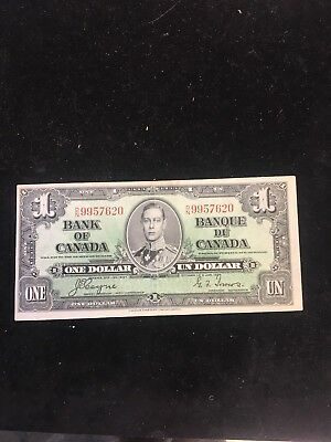 1937  Bank Of Canada $1 Note..coyne/towers