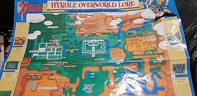 Original Hyrule Map That Came With Zelda A Link To The Past (damaged)