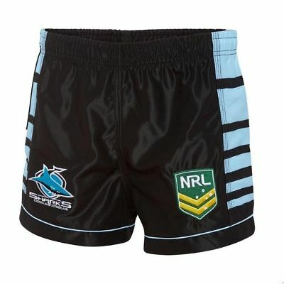 "Nrl Cronulla Sharks Kids/youths Home Supporter Shorts ""new For 2018"""