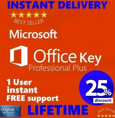 Office 2016 Key Professional Plus Lifetime Genuine Download License OEM