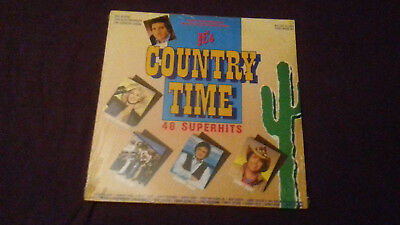 JOHNNY CASH+Tanya Tucker uvm.  COUNTRY TIME   3 LPs!!!!    SEALED!NEU!NEW!