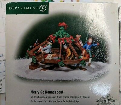 """Dept 56 Dickens Village """"Merry Go Roundabout"""" NEW SEALED Old Stock"""