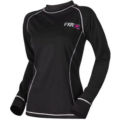 FXR - Vapour 20% Merino Black/Fuchsia Women Long Sleeves Top - X-Large