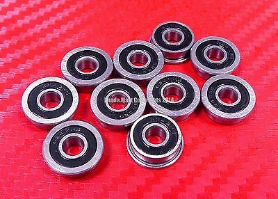 10pcs F688-2RS (8x16x5 mm) Flanged Metal Rubber Sealed Ball Bearing F688RS 8 16