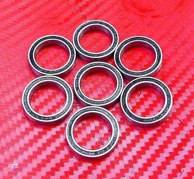 4 pcs 6704-2RS (20x27x4 mm) Black Rubber Sealed Ball Bearing Bearings 20 27 4