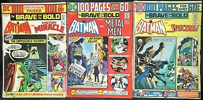 Lot Of 3 Dc 100 Pages The Brave And The Bold Comics (1974/1975) #112,113,116 ~