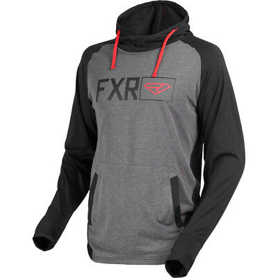 FXR - Terminal Tech Black/Grey Heather/Red Men Pullover Hoodie - X-Large
