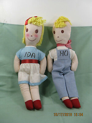 Vintage Souvenier Idaho Dolls Boy & Girl