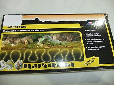 Reptile Heating Flexible Heat Cable Cord 90w 7.5 Metres - HTC-750