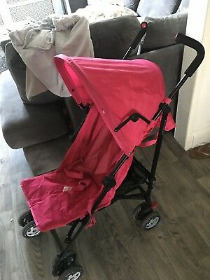 Mothercare Girls Buggy Stroller Pink Pushchair