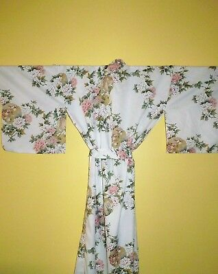 Kimono Dressing Gown Floral Design Made In Japan