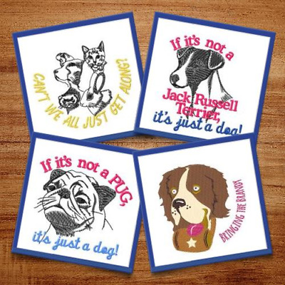 Adorable Dogs - 6 Machine Embroidery Designs
