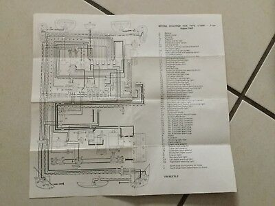 vintage wiring diagram vw beetle for type 1/1600 from august 1969