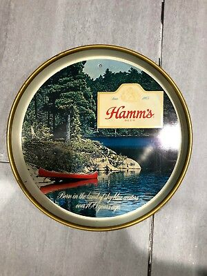 VTG Hamm's Beer Canoe Serving Tray - Born In The Land Of Sky Blue Waters - Lake