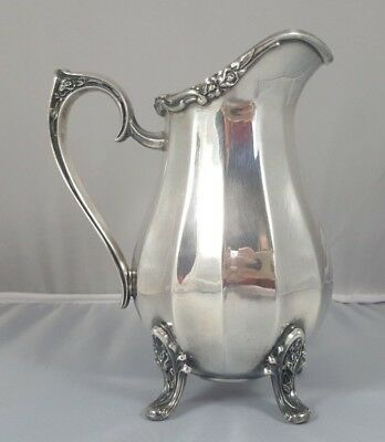 Vintage Silverplate Floral Creamer Pitcher in Magic Rose by 1847 Rogers Bros