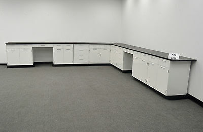 28'  Hamilton Base Laboratory  Cabinets with Counter Tops Stock Number PA4L358