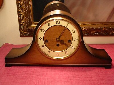 Magnificent German,Mahogany cased, Westminster Chiming mantel clock.