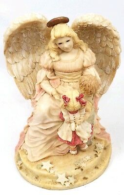 Vintage Limited Edition Angel Girl With Lion And Lamb Harmony