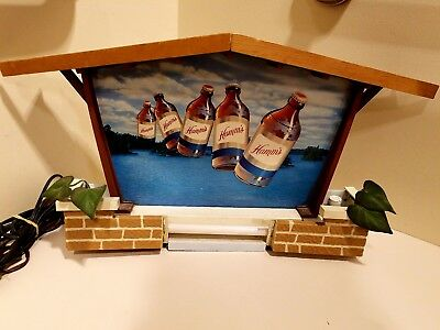 Hamm's Beer Advertising Lakeside Scene Lighted Non Motion Wall Sign FOR PART