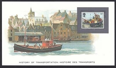 History Transportation Great Britain Stamp on Commercial Fishing Transport Card