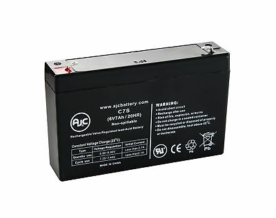 B&B HR9-6 T1 6V 7Ah Sealed Lead Acid Battery - This is an AJC Brand Replacement