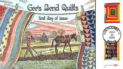 4090 39c American Treasures, Quilts, Housetop, Collins Hand Painted [E427581]