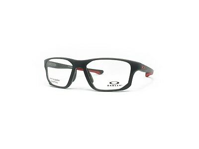 9c805e639a2 Brand New Oakley Crosslink Fit OX 8136 0455 Eyeglasses Satin Black   Red  55mm