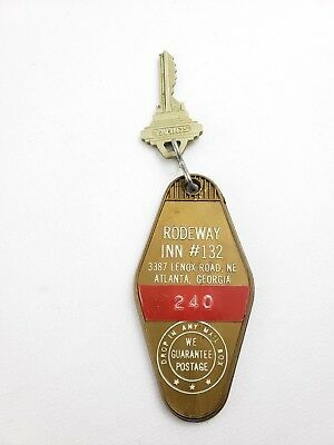 Vintage Hotel Motel Key Fob Rodeway Inn #132 Atlanta Georgia Room 240