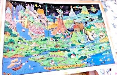 Lovely Cartoon Map The Land Of Make Believe By Jaro Hess 1958