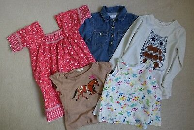Girls Bulk Lot Clothing x 5 pieces Age 3 to 4 Zara Seed Fred Bare Young Hearts