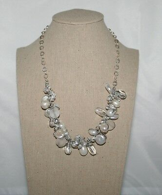 """Silpada Sterling Silver """"Effervescense"""" Freshwater Pearl and Quartz Necklace"""
