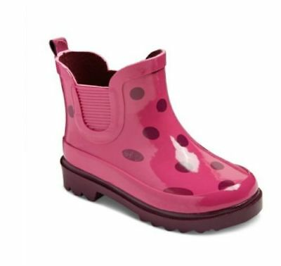 Toddler Girls' Tisha Polka Dot Rain Boots Cat & Jack™ Pink Size 11/12