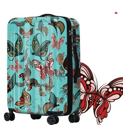 D202 Classical Style Universal Wheel ABS+PC Travel Suitcase Luggage 20 Inches W