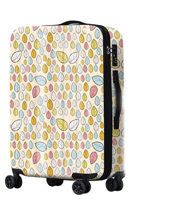 D647 Lock Universal Wheel Leaves Travel Suitcase Cabin Luggage 20 Inches W