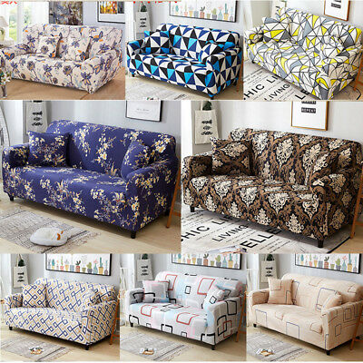 1 2 3 4 Seat Sofa Cover Stretch L Shape Protector Couch Loveseat Slipcovers New