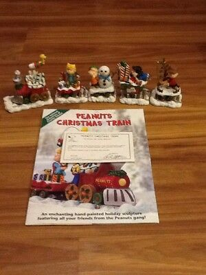 Peanuts Danbury Mint Five Piece Christmas Train Set -  Snoopy