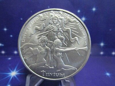 """1 Ounce 2018 SILVER SHIELD """"TRIVIUM GIRLS""""  Fine 999% Pure Silver THIS ONE"""