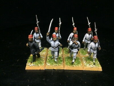 28mm DPS Painted Colonial Egyptian Infantry Command Group, 8 figures