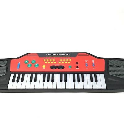 Techno-Beat Electronic Keyboard Manley 2005 Black & Red TESTED