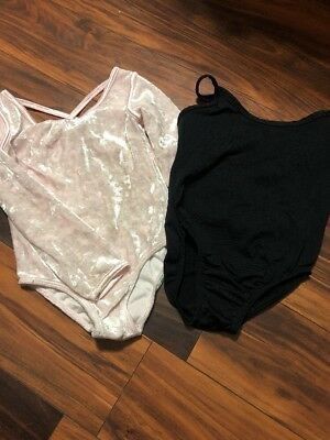 Dance Lot Pink And Black Leotards Size XS And XXS