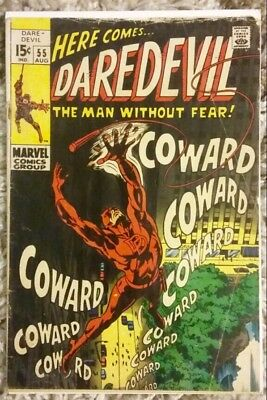 Daredevil #55 (1969) Marvel Silver Age!  Mr. Fear Appearance!  Affordable Copy!