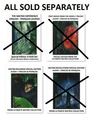 (All sold separately) MATRIX EXPERIENCE & The 3 Matrix Movies - 2004 Collection