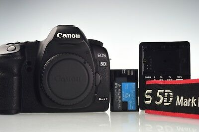 Canon EOS 5D Mark II 21.1MP Digital Camera Body Shutter Count 13772 Excellent-