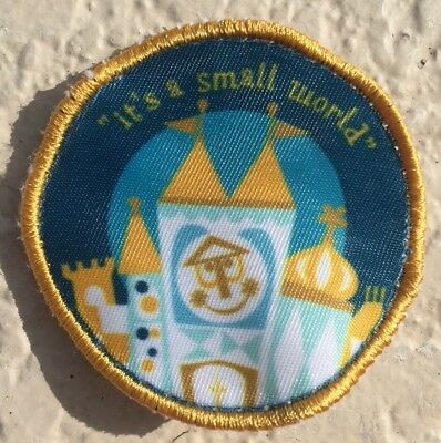 DISNEY WORLD Attraction Patch Its A Small World Disneyland Prop