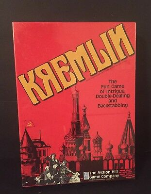 NOS Kremlin Board Game Avalon Hill Game Company 1988 New & Sealed Gift