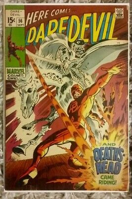 Daredevil #56 (1969) Marvel Silver Age! First App Death's Head! Affordable Copy!