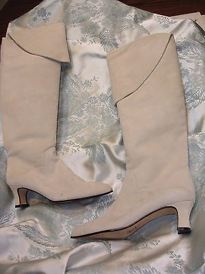 WOMANS  VERA CRUZ KNEE HIGH STEAMPUNK  Victorian Bone White Boots 7M