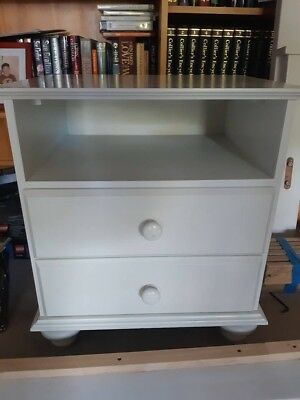 X1 Bedside Table 2 Drawers with shelf
