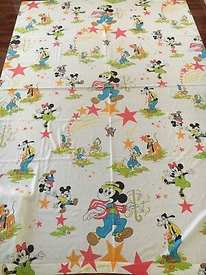 RARE Vintage Disney Mickey mouse twin Flat sheet